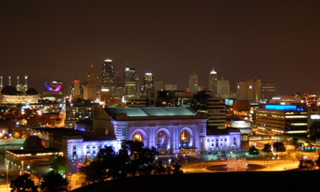 Union Station and the downtown skyline, Kansas City