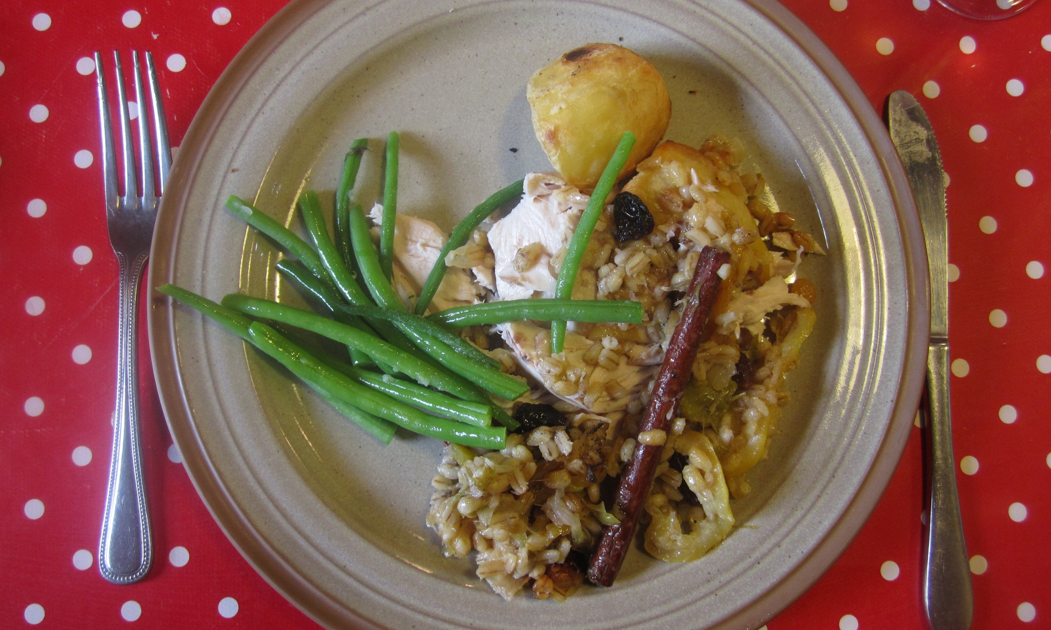 How to make roast chicken with roasted lemon, barley and sage stuffing ...