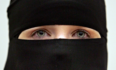 A woman wearing a niqab veil. Photograph: Scott Barbour/Getty Images