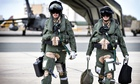 RAF air crew prepare to leave their Akrotori airbase