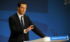 George Osborne delivering his conference speech