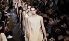 Models troop along the catwalk wearing Stella McCartney creations