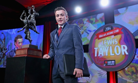 Brisbane Lions' Lewis Taylor wins AFL Rising Star award