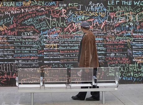Candy Chang's Before I Die … interactive public art project.