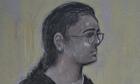 Kuntal Patel court sketch
