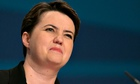 Ruth Davidson at the Tory conference in Birmingham. She told a fringe meeting she was sceptical abou
