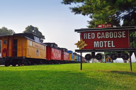 The Red Caboose Motel.