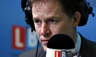 The deputy prime minister on his LBC Radio show Call Clegg.