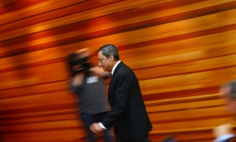 Mario Draghi, President of the European Central Bank (ECB), arrives for the ECB's monthly news conference in Frankfurt, September 4, 2014