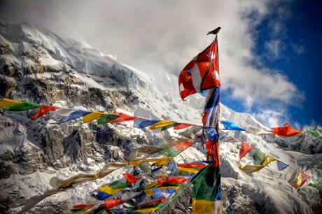 Prayers flags at Everest base camp.
