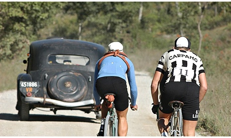 L'Eroica cycling race in Tuscany