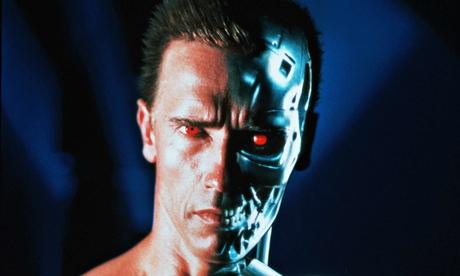 Arnold Schwarzenegger as a killer robot in Terminator 2