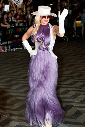 Lady Gaga Hair purple