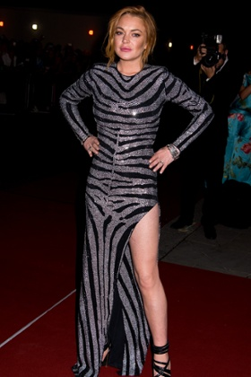 Lindsay Lohan attends the GQ men of the year awards at The Royal Opera House on September 2, 2014 in London, England