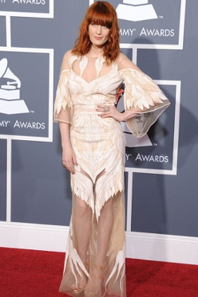 Florence Welch at the 2011 Grammy Awards