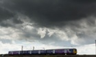 A Northern Rail train travelling through Cheshire.