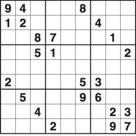 Very hard sudoku