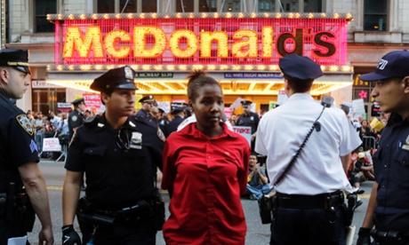 US Money Mcdonalds stike arrest