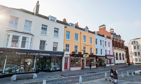 A parade of shops in Margate's Old Town