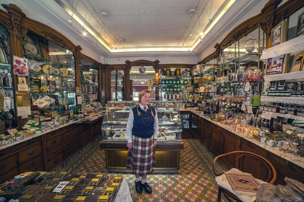 Denise in her shop in Paris, France.