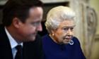 Britain's Queen Elizabeth II with David Cameron