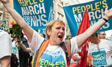NHS protest against privatisation