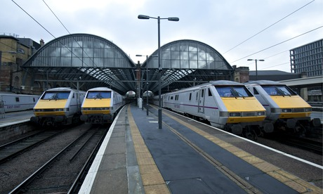 East Coast trains at Kings Cross station in London