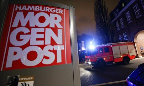 German newspaper firebombed
