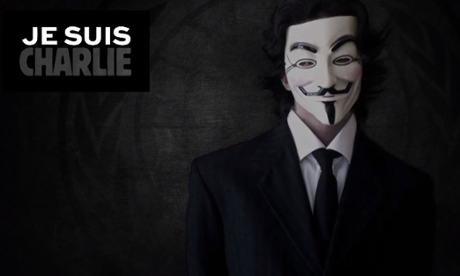 Anonymous target terrorist Twitter accounts after Charlie Hebdo attack