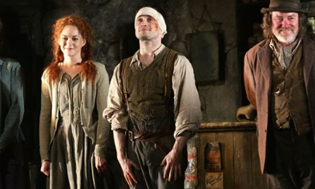 Daniel Radcliffe, centre, with Sarah Greene and Pat Shortt in The Cripple Of Inishmaan