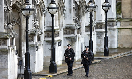 Armed police officers Houses of Parliament