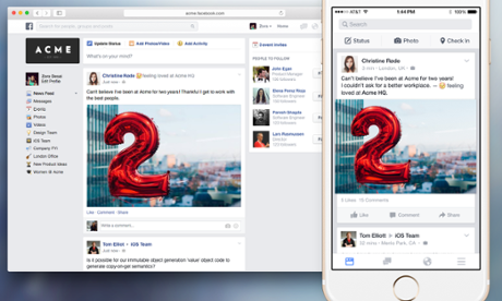 Facebook at Work: social network launches 'pilot' for companies