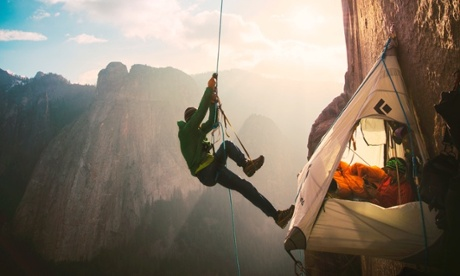 Tommy Caldwell free climbing El Capitan's Dawn Wall, Yosemite National Park