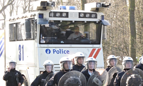 Belgian police on a training exercise