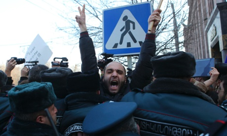Mass protests in Armenia as killings test loyalty to Moscow