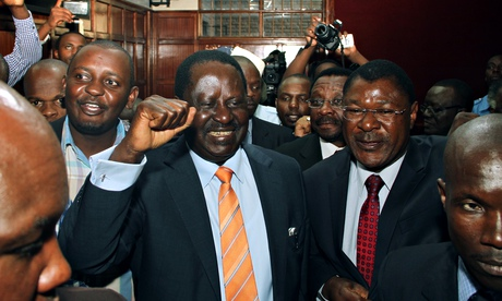 Kenya's opposition leader Raila Odinga celebrates high court suspension of key parts of security law