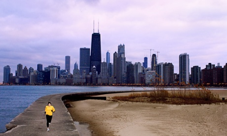 Runner on Lake Michigan in Chicago, Illinois