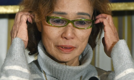 Junko Ishido answers questions during a press conference at the Foreign Correspondents' Club of Japan on Friday.