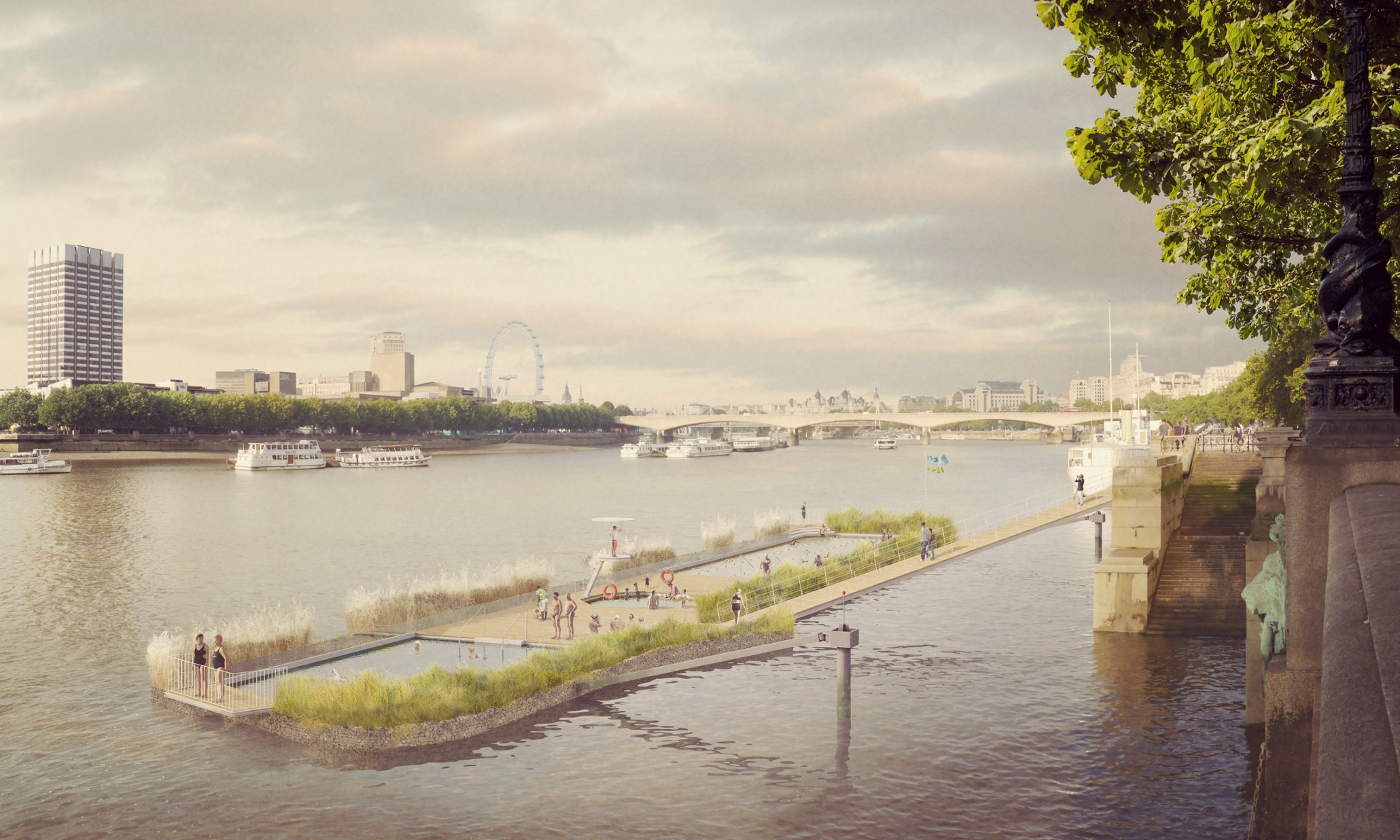 Open Air Swimming Pool Plans To Launch In Middle Of Thames In London Uk News The Guardian