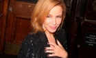 Kylie Minogue attending the Stella McCartney Shop Christmas Lights Switch On