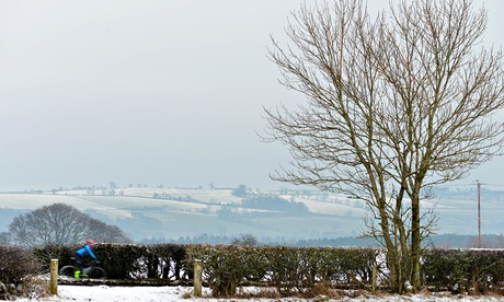 Freezing fog and snow in North Yorkshire