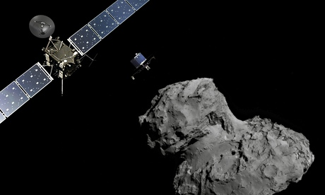 Rosetta spacecraft makes first close analysis of comet 67P dust coating