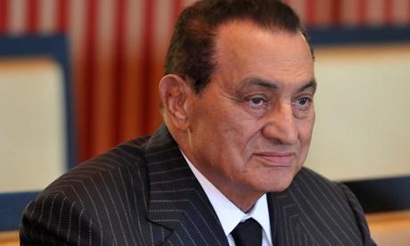 Former president of Egypt Mohamed Hosni Mubarak