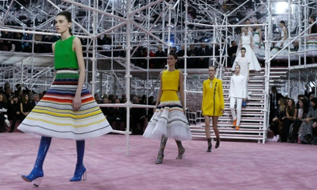 Christian Dior's Raf Simons constructs a 1960s vision of the 21st century