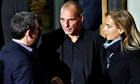 Greek finance minister Yanis Varoufakis (centre)