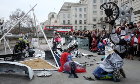 Summoning spirits … the Cult perform their rituals outside Somerset House.
