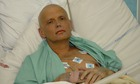Alexander Litvinenko before he died of polonium poisoning