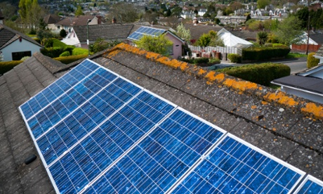 Solar power in the UK almost doubled in 2014