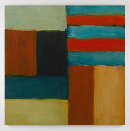 Blue Red, from the Cut Ground series (2011) by Sean Scully