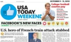 USA Today: emojis on the front page were inspired by Facebook Reactions.